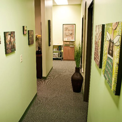 Office hallway of Acupuncture Denver in Denver, CO.